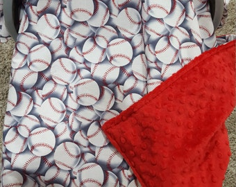 Baby Carseat Tent -Baseball Carseat Canopy, Tent, Sports, Touchdown