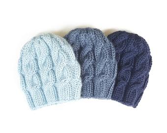 Knit Newborn Hat, Knitted Boy Hats, Baby Beanie, Newborn photo prop Boy,  Newborn Hat Boy, Newborn Props Boy, Newborn Boy Hat, Baby Boy Hat