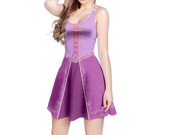 Rapunzel Tangled Inspired Sleeveless Dress