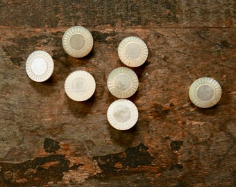 Vintage Mother-of-Pearl Star of David Buttons
