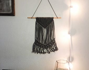 Small Macrame Wall Hanging - Simple Home Decor - Handcrafted