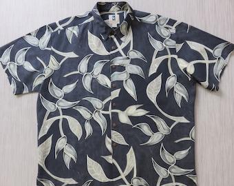 Hawaiian Shirt Men KAHALA Paradise Aloha Shirt Funk-adelic Vines Maui Mod Art Heliconia Flowers Tropical Camp - 2XL - Oahu Lew's Shirt Shack