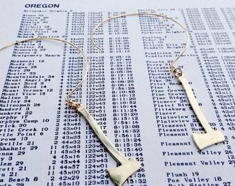 gold hoop earrings | drop earrings gold axe earrings | ax jewelry axe jewelry | portland timbers | portland oregon