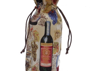 Wine Bottle Gift Bag - Tuscan Wine Country