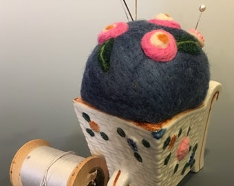 Needle Felted Pincushion