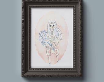 Print - Portrait of a skeleton
