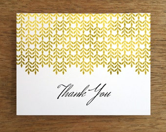 Printable Thank You Note - Gold & Black Thank You Card Template - Thank You Card PDF - Instant Download - Glam Thank You - DIY Thank You