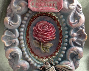 Tiny Rose Bee Framed Dream Collage