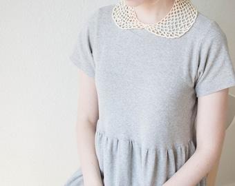peter pan crochet lace detachable collar in cream