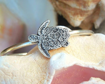Sea Turtle Jewelry, Silver Sea Turtle Bracelet, Sterling Silver Sea Turtle Cuff Bracelet, STERLING SILVER Sea Turtle Jewelry, Cuff Bracelet