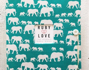 SCHOOL YEARS BOOK | Turquoise Elephant Silhouette Album