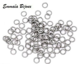 30 6 mm stainless steel jump rings