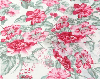 Flowers Cotton Gauze Fabric - 55 Inches Wide - By the Yard 80947 GJ
