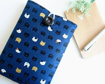 Cats iPhone Case, iPhone 8 Sleeve, iPhone X Case, iPhone 8 Plus Case, Android Phone, Google Pixel 2, Pixel XL Case, Padded Phone Pouch