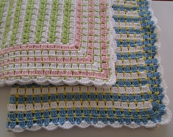 Crochet Pattern, Easy Crochet Afghan Pattern, Baby Blanket Pattern, Throw Pattern, PDF Tutorial, Haakpatroon, Haken Crochet