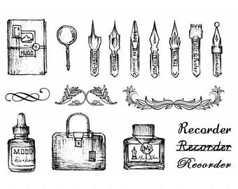 Clear stamps of different themes