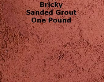 Bricky SANDED Grout - ONE POUND for Walls, Floors, Counter Tops, Backsplashes, Tubs, Showers, Mosaics