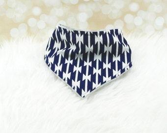 Minky Bandana Bib (NAVY TOMAHAWKS) - reversible bandana bib, minky bib, minky bibdana, baby shower gift, soft bibdana, minky baby bib