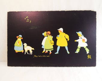 Vintage, Jenny Oliver Dick, Mary Had A Little Lamb, art print