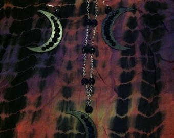 Glam Moon Necklace And Earrings Set