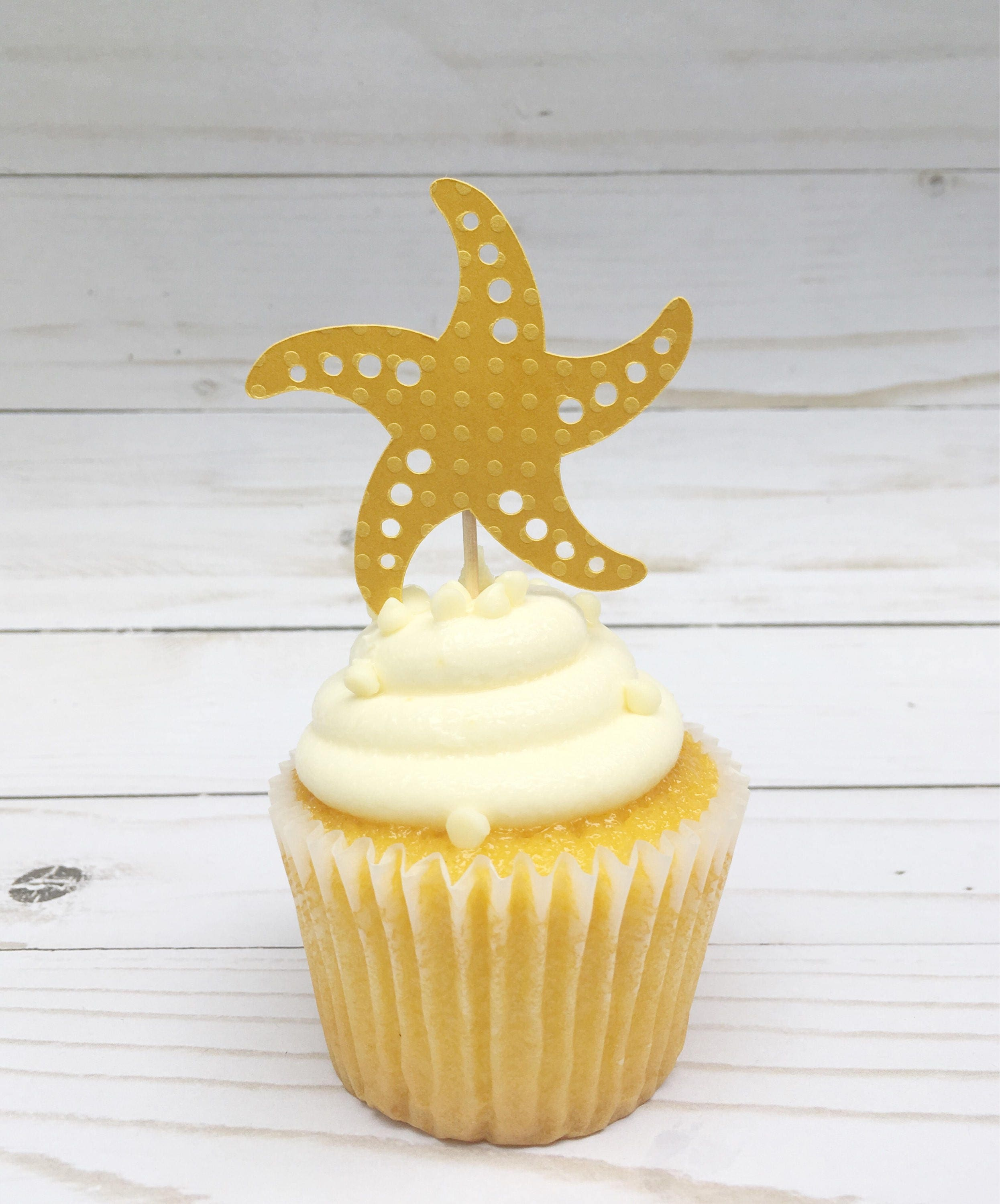 Starfish Cupcake Topper Mermaid Party Supplies Under the Sea