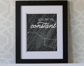 8x10 Print- You Are My Constant Big Dipper Portrait **DIGITAL DOWNLOAD**
