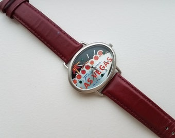 Fabulous Las Vegas Watch with Leather Band