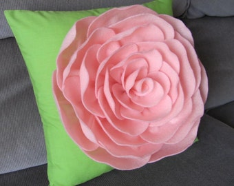 Suzannah Rose Flower Pillow Pattern Felt Flower and 2 BONUS Pillow Covers Tutorial PDF ePattern How To