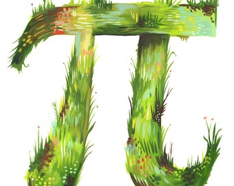 Pi art print | Watercolor Wall Art