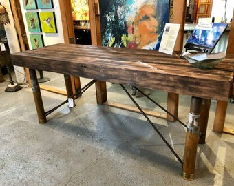 Rustic entertaining table