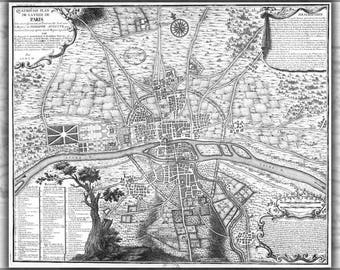 Poster, Many Sizes Available; Map Of Paris France Circa 1223