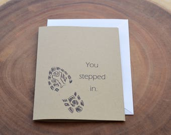Step Dad Card - Card for Step Dad - Second Dad Card - Father In Law Card - Bonus Dad Card - Mentor Card - Foster Care - Like a Dad - Stepdad