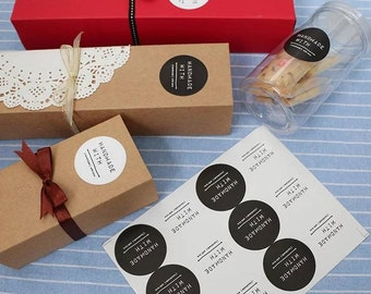 JParadise - Handmade stickers/ Hand Made label/ Cookie bag Stickers/ Gift Stickers/ Candy Bag Stickers