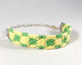 "Hand-woven Friendship Bracelet ""Checkerboard"""