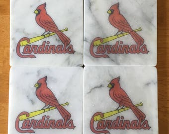 St. Louis Cardinals Coasters Set of 4