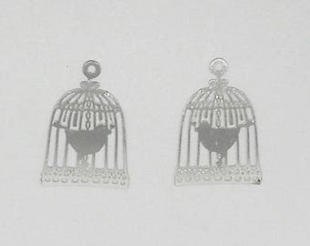 2 small prints watermarked stainless shaped birdhouse 22 x 15 mm