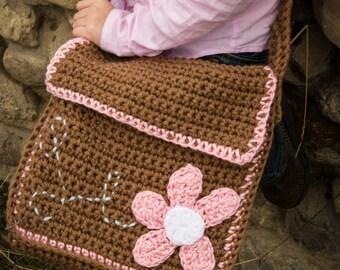 Crochet Pattern - Messenger Bag, Kiwi Tote, Women's bag