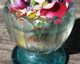 Vintage & Antique Glass Container Turquoise
