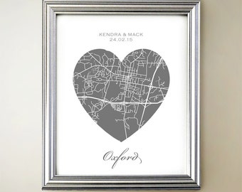 Oxford Heart Map