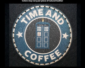 Time and Coffee Leather Patch
