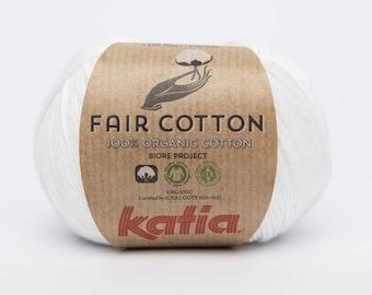 Katia fair color 1 white cotton wool
