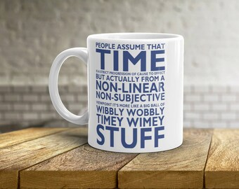 Wibbly Wobbly Timey Wimey Mug • Dr Who Mug • David Tennant • Holiday Mug • Christmas Present • Coffee Cup • Coffee Mug • Tea Cup • 11oz 15oz