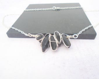 Moldavite Necklace, Moldavite Wire Wrapped Jewelry, Meteorite Necklace, Moldavite Pendant, Meteorite Jewelry, Green Gemstone necklace