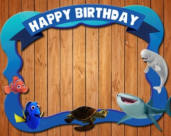 Finding Nemo & Dory themed birthday party photo frame