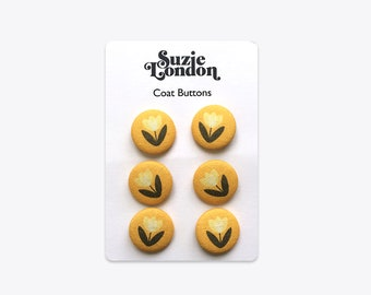 Tulip Coat Buttons in Yellow