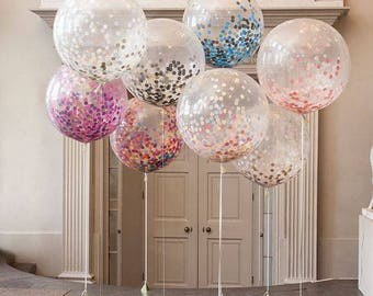 "24"" Large Confetti Filled Balloon"