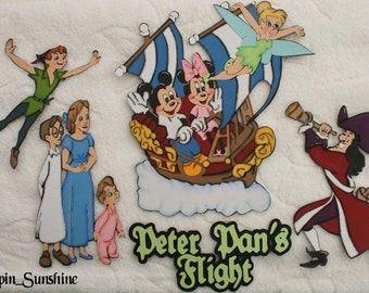 DISNEY Peter Pan Flight Ride - You Choose - Scrapbook Page Paper Piece or Title - SSFF