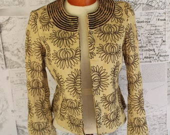 Funky Tan and Bronze Beaded Jacket