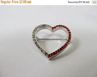 On Sale Retro Rhinestone Heart Pin Item K # 448