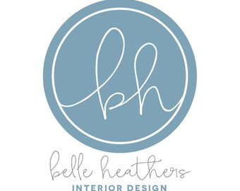 Pre-Made Logo Ready to Add Your Company Name - Style: Belle Heathers - 4 colours